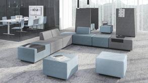 Loungemöbel - Besprechungsecke & Sitzbank für den Empfang