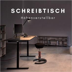 Höhenverstellbarer Schreibtisch Einzelplatz
