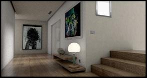 entrance area, spacious, minimalsistic, light