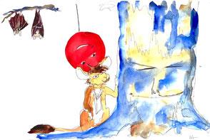 Les chauves-souris observent Érable Baudruche et Grouidibi