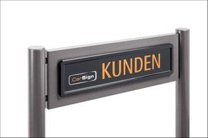 ParkSign construct Parkplatzschild, Parkplatz Schild, Edelstahl, Aluminium, Pulverbeschichtung, Besucherschild