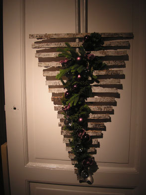 Décoration florale pour Noël