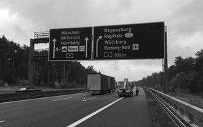 Verkehrszeichenbrücken BAB A3, A9 und A73, Bayern