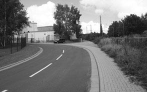 Ortsstraße in Mittweida