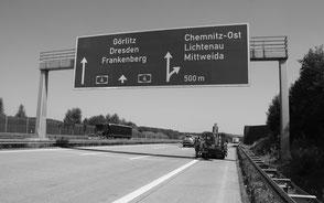 Verkehrszeichenbrücken BAB A4, Sachsen