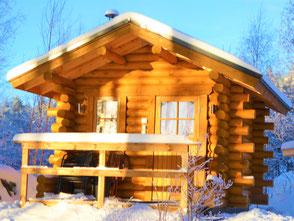 Sauna im Winter Finnland