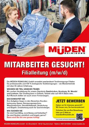 mueden.de, Startseite, Bild Mitarbeiter gesucht, Filialleitung