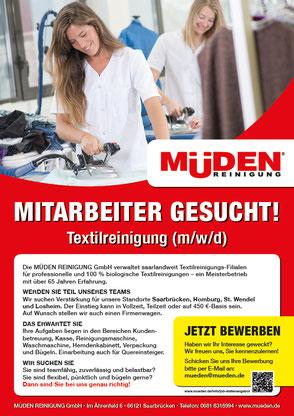 mueden.de, Startseite, Bild Mitarbeiter gesucht, Büglerin beide am Bügeltisch
