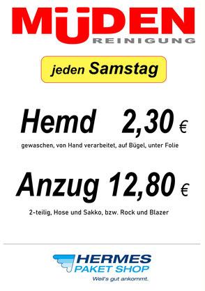 mueden.de, Filialen, Filiale Globus Saarlouis, Flyer Samstag