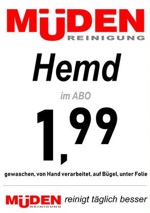 mueden.de,  Filialen, Filiale Pieper Saarlouis , Flyer Hemd € 1,99