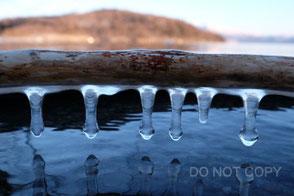 屈斜路湖のつらら氷 平松啓一郎