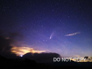 見事な尾を引くネオワイズ彗星 小笠原裕司