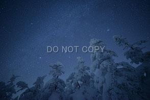 樹氷と冬の銀河 平松 啓一郎