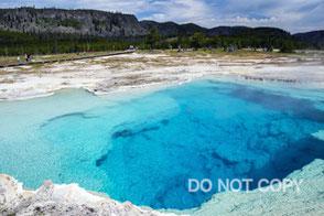 Yellowstone の青い宝石Sapphire Pool              オギハラシゲノリ