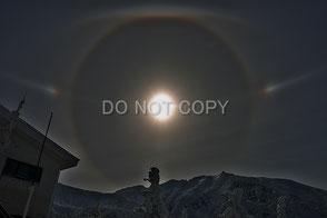 富良野岳の上空に現れた幻日環 鬼頭  剛