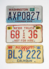 Product, Kentekenplaat, Licenseplate, Amerikaans, Missouri 1997