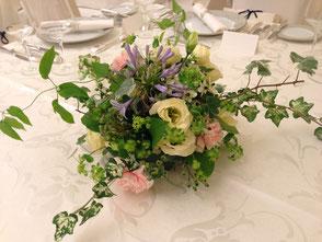ブライダル装花 ゲストテーブル