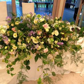 ブライダル装花 メインテーブル