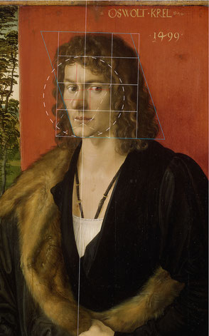 (23) Albrecht Dürer, Portrait of Oswolt Krel (part of a triptych), 1499, oil on limewood, 49.7 x 38.9 cm, inv. no. WAF 230, Alte Pinakothek Munich / Bayerische Staatsgemäldesammlungen