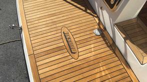 Teak behandling, teakdekk båt, Teakrens