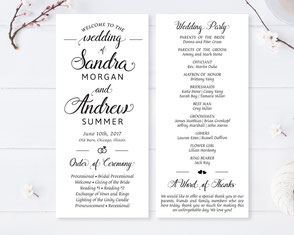 personalized wedding programs