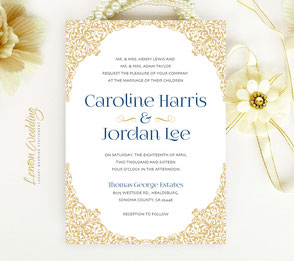 Shimmer wedding invitations