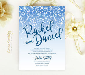 Winter wedding invites
