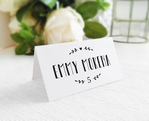 Classic wedding name cards