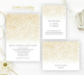 golden wedding invitations | party invitations