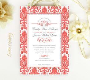 Red wedding invites