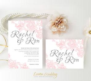 cheap wedding invitations | pink wedding invitations | pink invites | lace invitations | wedding invitations set