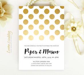 Modern invites