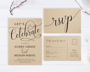Let's celebrate wedding invitations with RSVP