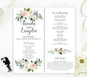 Garden Wedding Programs