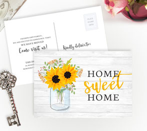 Sunflower New Home Cards