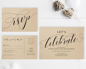 Let's celebrate wedding invitations