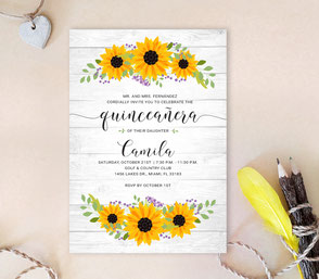 Rustic Quinceanera Invitations