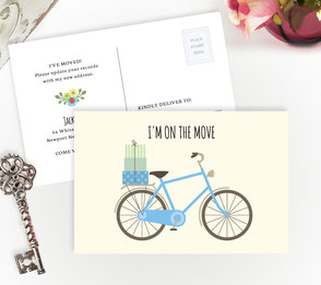 Blue Bicycle New Home Cards