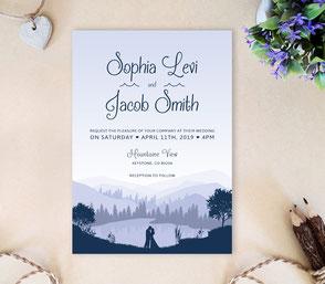 Lake wedding | Cheap invitations