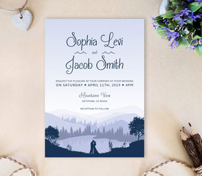 Lake wedding | Cheap invitations