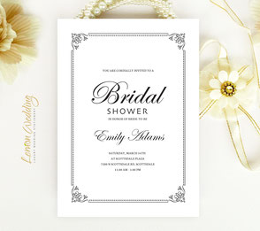 Elegant Bridal Shower Invitations simple