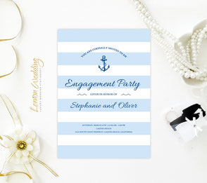 Nautical save the date card