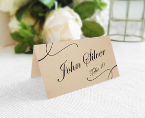 Kraft wedding name cards