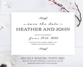 Traditional wedding  save the date postcards