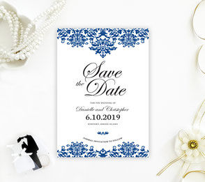 Royal blue save the dare cards