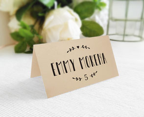 printed name place cards