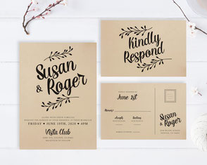 wedding invitations kraft paper