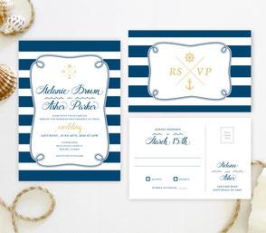 anchor themed invitations