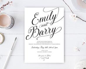 Classic weddinginvitation
