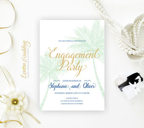 Beach save the date cards